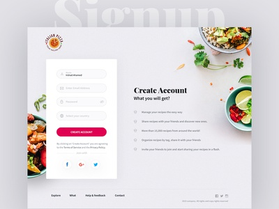 Signup Form website modern minimal create account sign up signup page signupform
