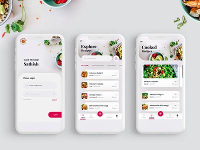 Recipes Mobile Screens mobile design mobile app design mobile app minimal recipe book cooking cooking app cookbook recipes recipe app