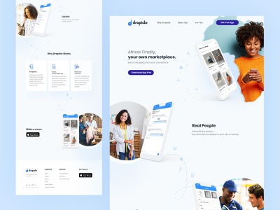 Marketplace Landing ui typography website ecommerce shop ecommerce app buy and sell trading online shopping online shop marketplace app marketplace