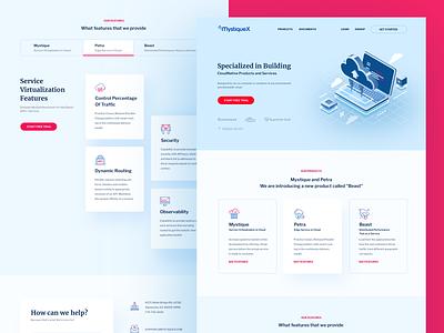 Mystiquex Landing product webdesign website design websites landing  page website landing page design landingpage