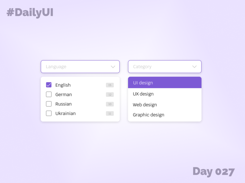 Day 027 - Dropdown dropdown filter 027 100days 100 day challenge 100daychallenge daily 100 challenge challenge ui design daily ui dailyui