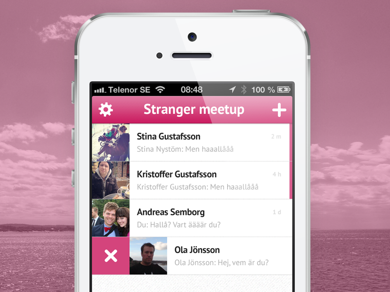 Stranger - 2.0 app chat ios