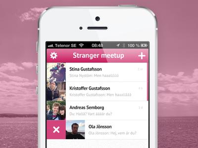 Stranger - 2.0 app chat ios