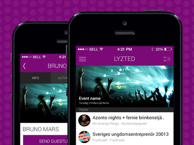 Lyzted 2.0 app ios7 iphone guestlist club nightlife