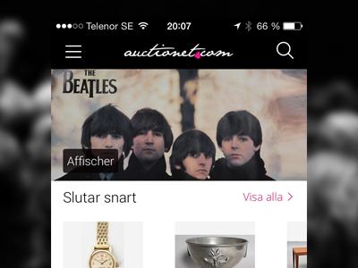 Auctionet iOS app ios iphone app
