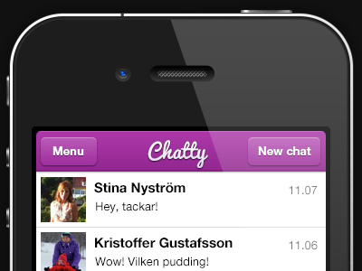 Chatty app scetch