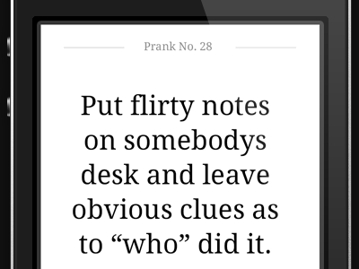Set of simple apps ios iphone ipad app deck prank quote