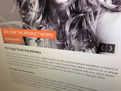 Secret client project #1 web design site client