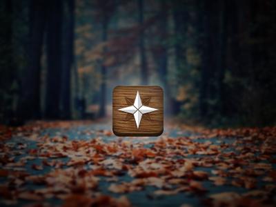 Autumn App Sketch app ios icon wood