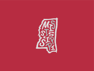 Mississippi for America united states of america lettering typography design art usa us america jackson mississippi state mississippi
