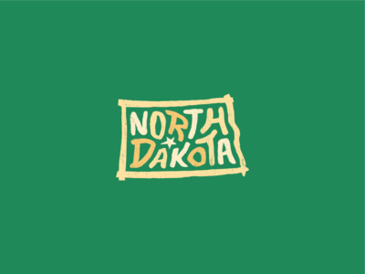 North Dakota for America lettering typography design art usa united states america country dakota minot grand forks grandforks bismarck fargo midwest nd northdakota north dakota