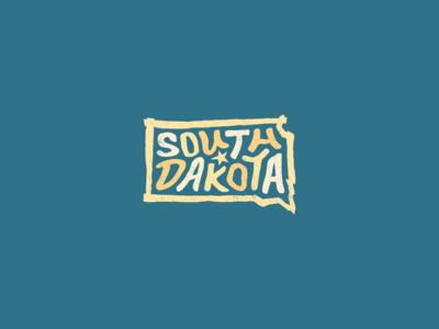 South Dakota for America lettering typography design art unitedstates usa united states south america brookings mount rushmore aberdeen rapid city sioux falls black hills dakota sd southdakota south dakota