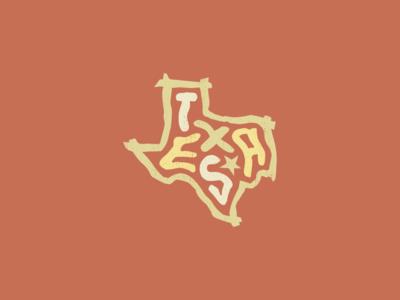 Texas for America lettering typography design art usa united states america amarillo plano corpus christi arlington el paso fort worth austin dallas san antonio houston tx texas
