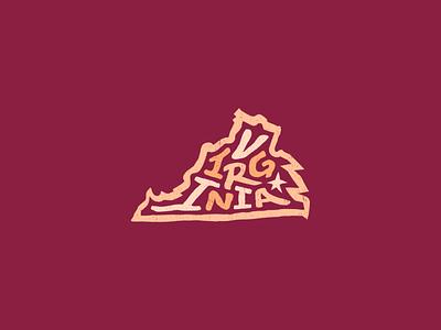 Virginia for America lettering letter typography design art usa united states america portsmouth hampton alexandria newport news richmond chesapeake norfolk virginia beach virginia