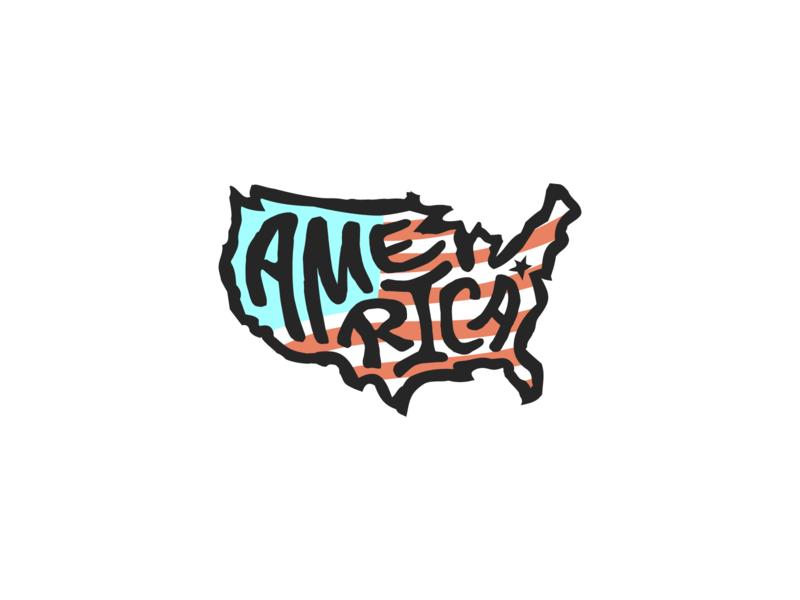 States for America american flag feeding america us usa states for america lettering design typography united states of america united states american america