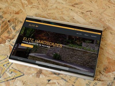 Elite Hardscapes Site site mockup mockup branding brand contractor construction wordpress html css web design homepage cover page web design website paver paving hardscapes elite