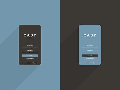 EAST Partnership Login Screen east partnership east brand design branding web design login screen login ux ui user interface user experience user