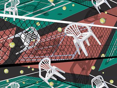 Tennis Court vector court tomcsanyi design pattern tennis textile design pattern design digital print