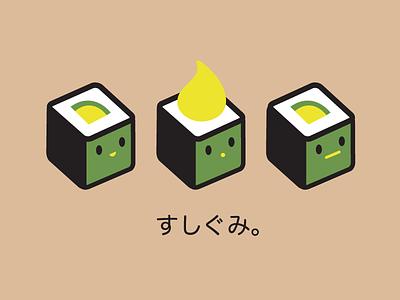 Sushigumi illustration cartoon cute vector sushi japanese