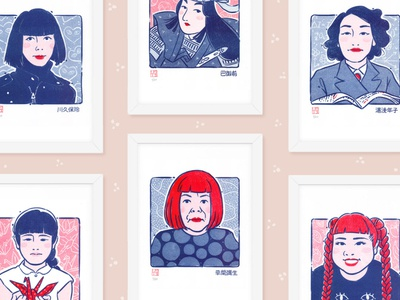 Japanese Women Who Changed the World Riso Prints