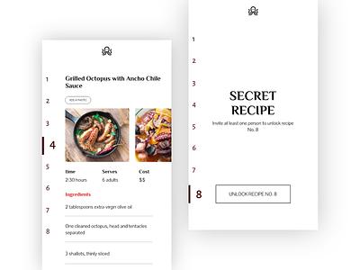 Seefood recipe app recipe silicon valley app design app concept design ui concept app