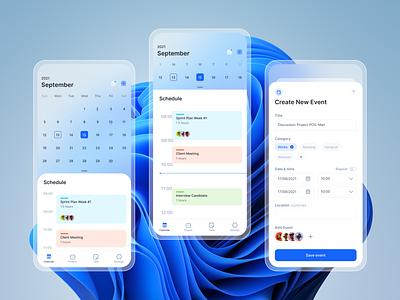 Calendar App Exploration task schedule mobile app ui app task management calendar mobile design app ui