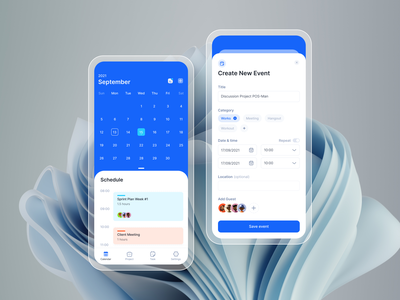Calendar App Exploration Part 2 schedule task management calendar ux illustration mobile design app ui