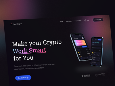 PlanetCrypton - The Best Stacking Crypto to Earn Money crypto currency web crypto crypto app mobile design web design landing page ux ui land