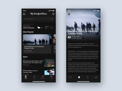 The New York Time Dark Mode Concept