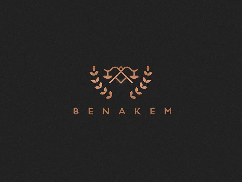 Benakem law advocate vector stars line geometric pattern texture black type typography
