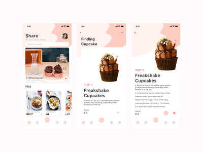 Share app 食物应用程序 应用 餐饮 设计 ui