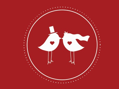 Bird Wedding Invite detail