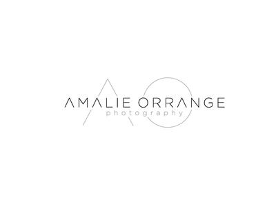 Amalie Orrange Photography Logo logo typographic minimal modern