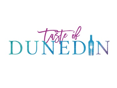 Taste of Dunedin typographic logo wine food