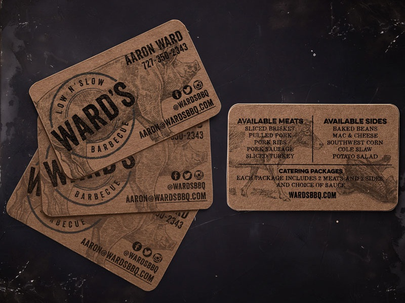 Bbq Business Card Design Mockup By The Lovely Lyss Dribbble