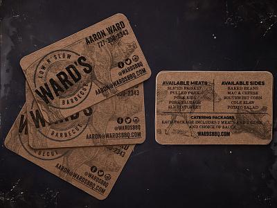 BBQ Business Card Design + Mockup kraft business card bbq