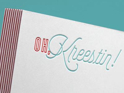 Oh, Kreestin - Blogger Design modern fun logo design logo