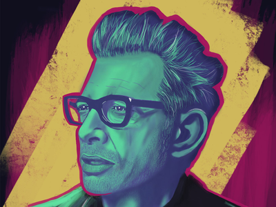 Jeff Goldblum Digital Painting procreate ipad pro digital painting