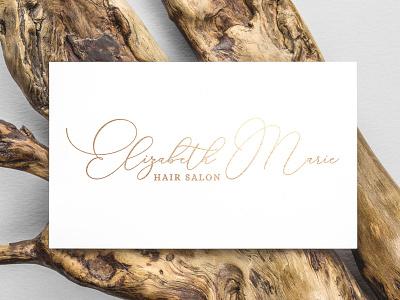 Elizabeth Marie Hair Salon logo design script font script logo