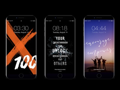 iPhone8+ Wallpapers typography