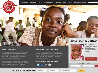 World Vision Home Page