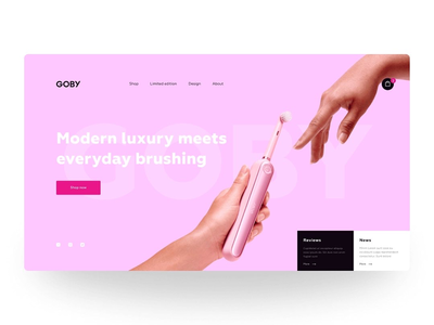 Website voncept for Goby