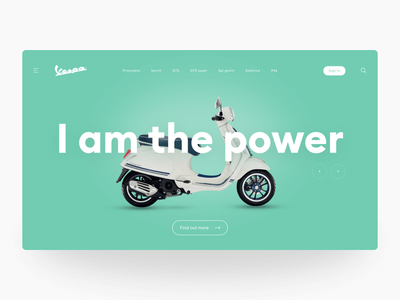 Website concept for Vespa