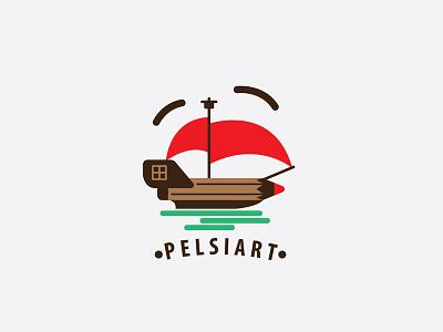 Pelsiart Logo sea simple minimalist jp cute ship printed logos logo