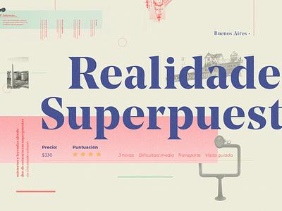 Realidades Superpuestas 3 typography graphic art editorial art identity illustration trending graphic design design