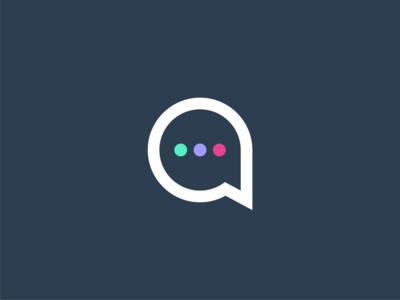 Aspiration Digital branding chat logodesign logo conversation speech events conference networking a logo