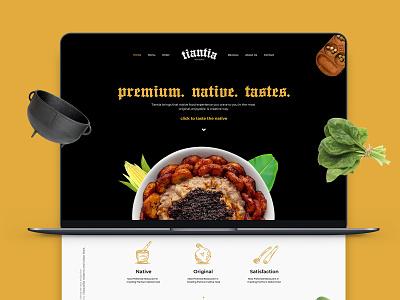 Tiantia website icon design restaurant ux ui logo