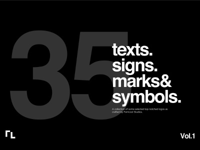 35 texts, signs, marks and symbols. symbols texts signs marks design typography logotype brands logo