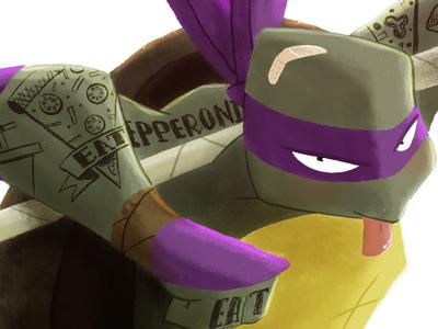 Donatello tortuga mutant ninja mutante donatelo turtle lapendeja ilustración donatello ninjaturtle illustration color