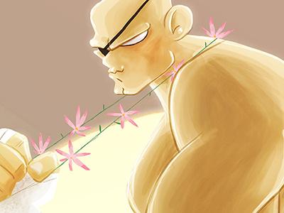 Sagat sagat illustration streetfighter ilustración street fighter lapendeja color character